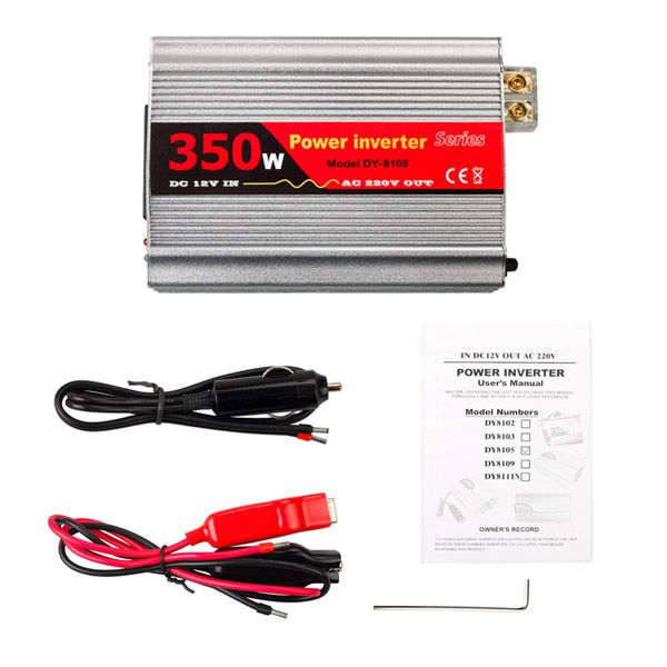 350W USB Car Inverter DC 12V to AC 220V