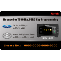 Autek IKEY820 License for Ford 2018+ and Toyota G and H Chip All Key Lost Key Programming