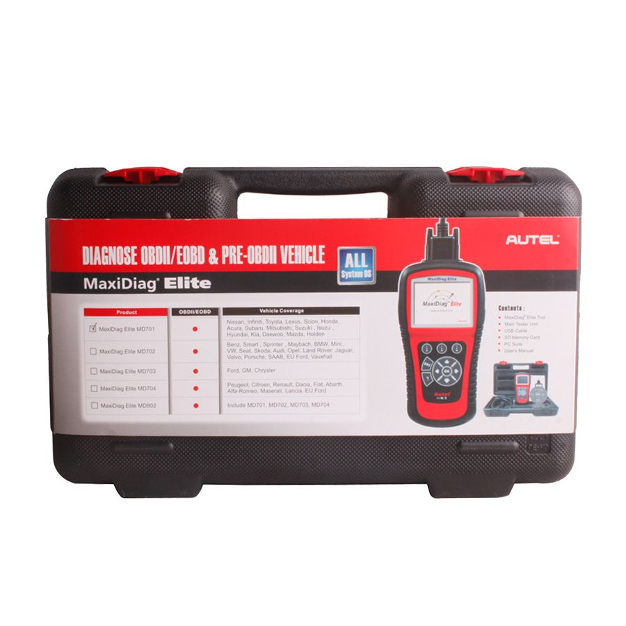 Autel MaxiDiag Elite MD703 Full System with Data Steam USA Vehicle Diagnostic Tool Update Online