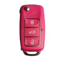B5 Type Remote Key Shell 3 Buttons mit Waterproof (Red) for Volkswagen 5pcs/lot