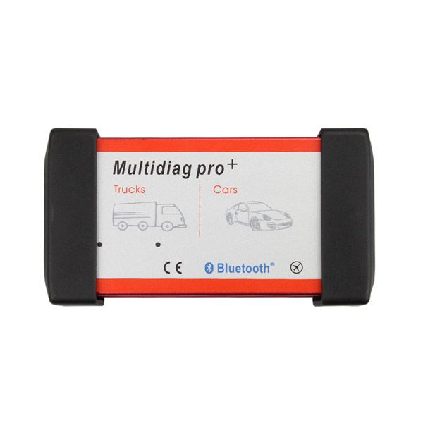 V2016.1 New Design Bluetooth Multidiag Pro+ for Cars/Trucks and OBD2 with 4GB Memory Card Support Win8