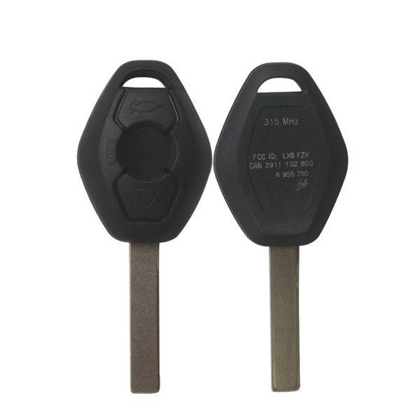Key Shell 3 Button 2 Track (Back Side With The Words 315MHZ) for Bmw 5pcs/lot