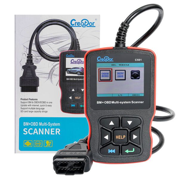 Creator C501 OBD 2 Car Diagnostic for BMW e46 e39 e90 e60 Diagnostic Scanner Code Reader AC EPS Oil Service Reset EPB ABS Airbag