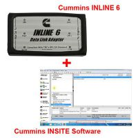 Promotion! Cummins INLINE 6 Data Link Adapter plus 8.2.0.184 Cummins INSITE Software Pro Version with 500 times Limitation