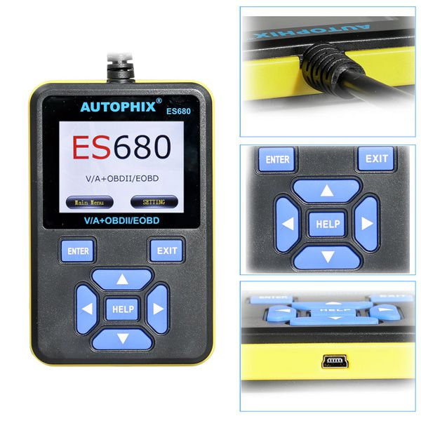 New AUTOPHIX E-SCAN ES680 V-A-G RPO+OBD Scanner Supports Multi-Language