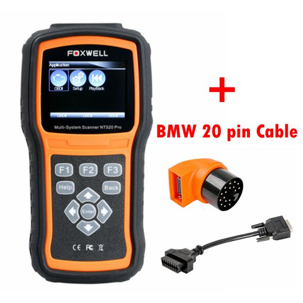 Foxwell NT520 Pro + BMW Software Preloaded + BMW 20 Pin Diagnostic Connector