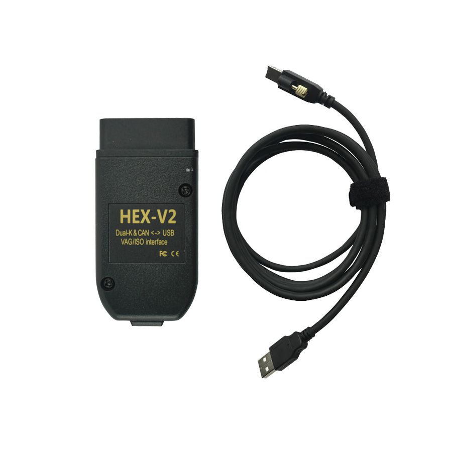 HEX-V2 HEX V2 Dual K & CAN USB VAG Car Diagnostic interface V19.6 for Volkswagen Audi Seat Skoda