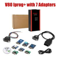 V84 Iprog+ Pro with 7 Adapters Support IMMO + Mileage Correction + Airbag Reset