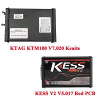 Best Quality KESS V2 V5.017 Red PCB Firmware EU Version Plus KTAG KTM100 V7.020 Ksuite V2.47 ECU Tool Master Version No Tokens Limit