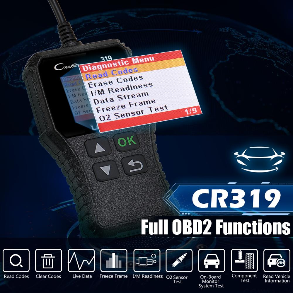 Launch X431 Creader 319 CR3001 Full OBD2 OBDII Code Reader Scan Tools OBD 2 CR319 Car Diagnostic tool PK AD310 ELM327 Scanner