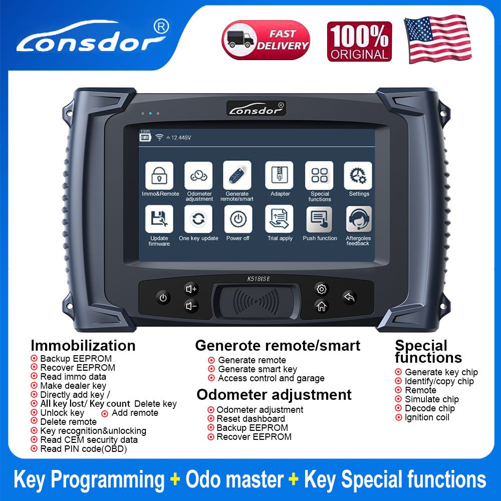 Lonsdor K518ISE K518 Key Programmer for All Makes With BMW FEM/EDC Functions
