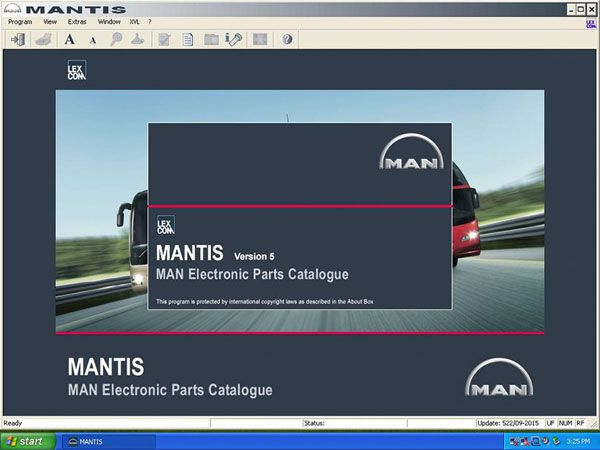 Man Heavy Duty (Mantis) 2015 Workshop Info System EPC Electronic Parts Catalogue V5.9.1.85 Free Shipping