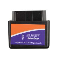 Black MINI ELM327 Bluetooth OBD2 Hardware V1.5 Software V2.1