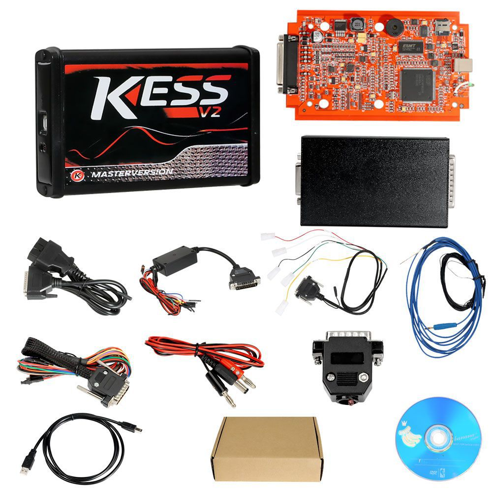 Cheap Kess V2 V5.017 EU Version SW V2.53 with Red PCB Online Version Support 140 Protocol No Token Limited