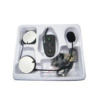 New 100m Motorcycle Helmet Headsets Intercom Bluetooth Handsfree Kit