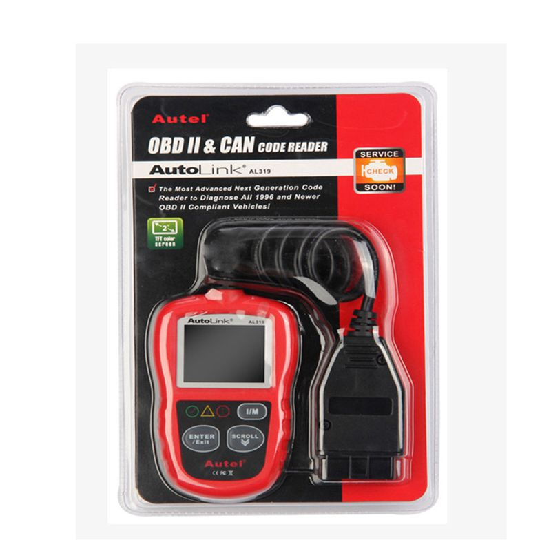 Original Autel AutoLink AL319 OBDII & CAN Code Reader Support Online Update