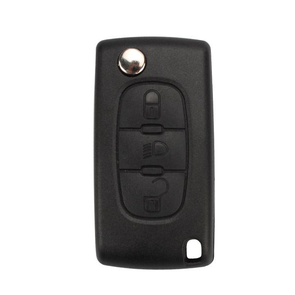 Remote Key Shell 3 Button For Peugeot Flip ( Light Button and without Battery Location) 5pcs/lot