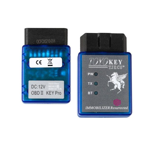 TOYO Key OBD II OBD2 Key Pro Supports Toyota G All Keys Lost Works with CN900 Mini