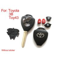 5pcs/lot Remote key shell 3 button (Without sticker) for Toyota