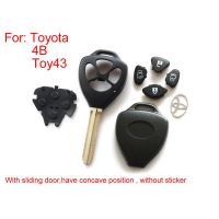 Remote Key Shell 4 Button (With Sliding Door Have Concave Position Without Sticker) for Toyota 5pcs/lot