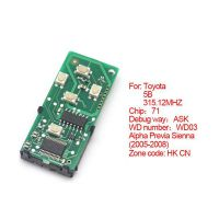 Smart card board 5 buttons 315.12MHZ number :271451-0780-HK-CN for Toyota