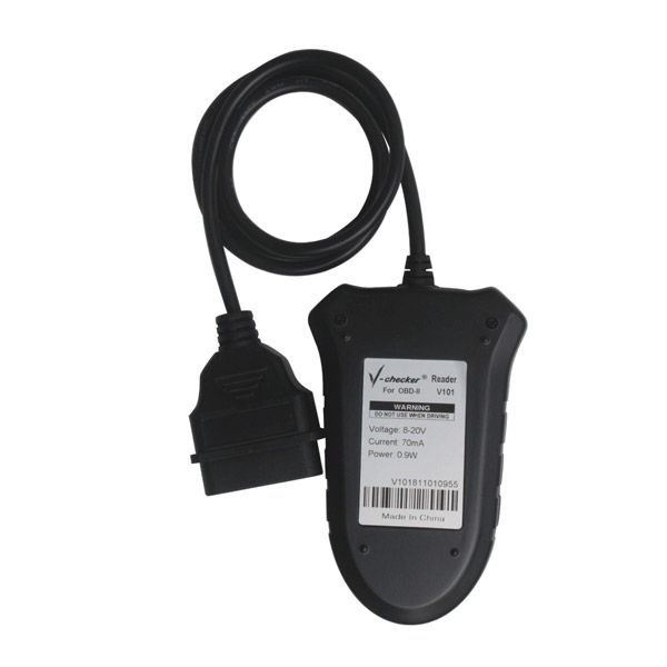 V-CHECKER V101 OBD2 Code Reader without CANBUS English/Finnish