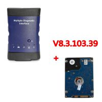 WIFI GM MDI Multiple Diagnostic Interface with V8.3.103.39 GDS2 Tech 2 Win Software Sata HDD for Vauxhall Opel Buick and Chevrolet