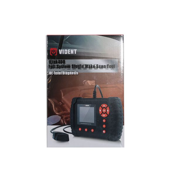 VIDENT iLink400 Full System Single Make Scan tool Supports ABS/SRS/EPB/DPF Regeneration/Oil Reset Update Online Better than Foxwell NT510
