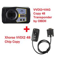 Xhorse VVDI2 Key Programmer Full Version with VAG Copy 48 Transponder by OBDII Plus 48 Data Collector