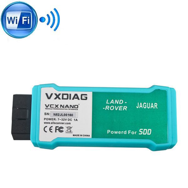 (US Ship No Tax) WIFI version VXDIAG VCX NANO for Land Rover and Jaguar Software V158