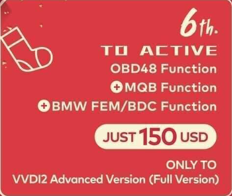 Xhorse VVDI2 OBD48 Function + MQB Function+ BMW FEM/BDC Function (Only For VVDI2 Full Version)