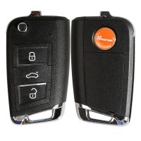 Xhorse VW MQB Style Flip Transponder Key 3 Buttons XKMQB1EN 10pcs/lot