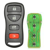 Xhorse XKNI00EN Wire Remote Key Nissan Separate 4 Buttons English Version 5pcs/lot