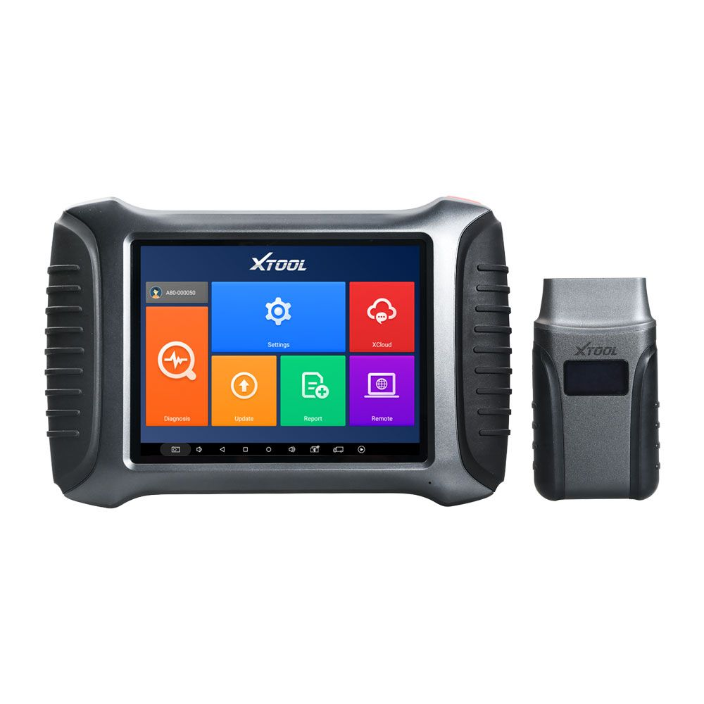 XTOOL A80 H6 Full System OBDII Car Diagnostic Tool Supports Programming/Odometer Adjustment with EEPROM Adapter Free Update Online