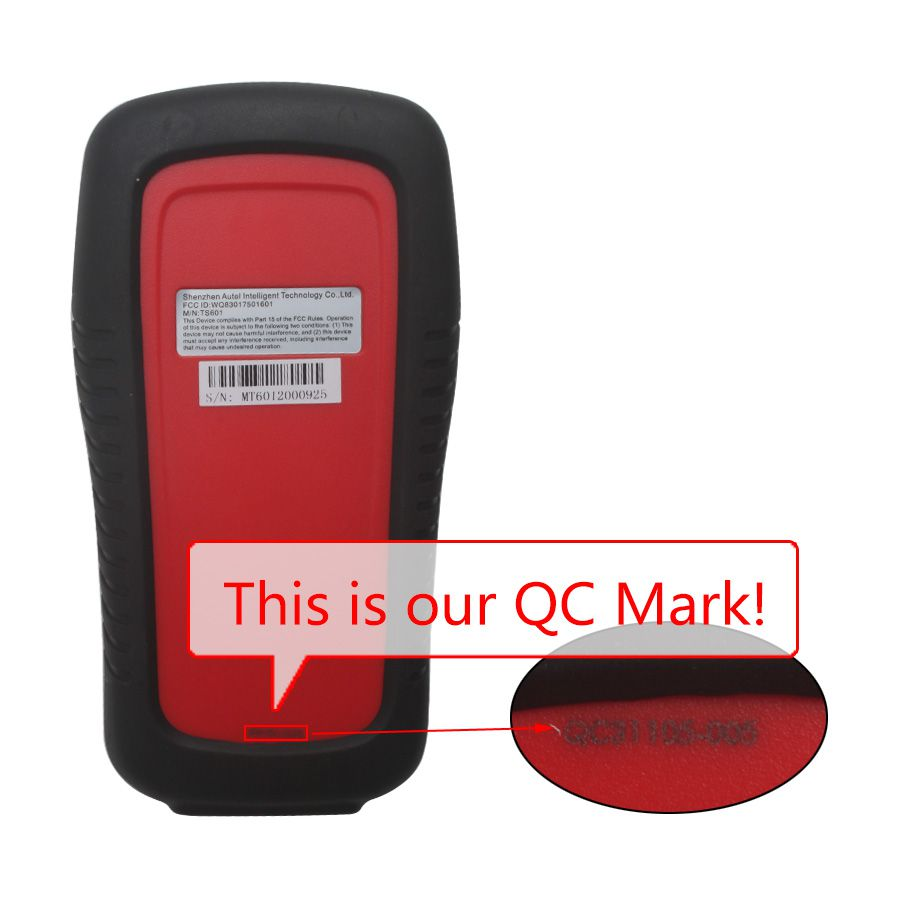 Autel TPMS Diagnostic and Service Tool MaxiTPMS TS601 QC Mark