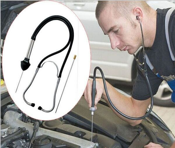 Automobile cylinder stethoscope display