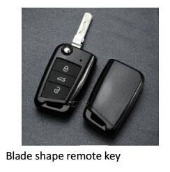 blade shape remote key