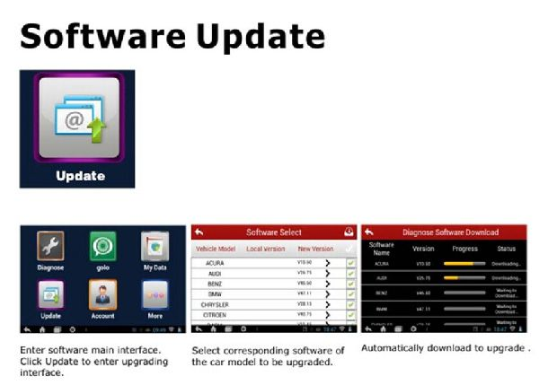 how to update crp229 software ?
