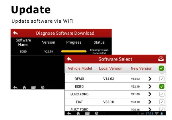 CRP229 software is updated by wifi