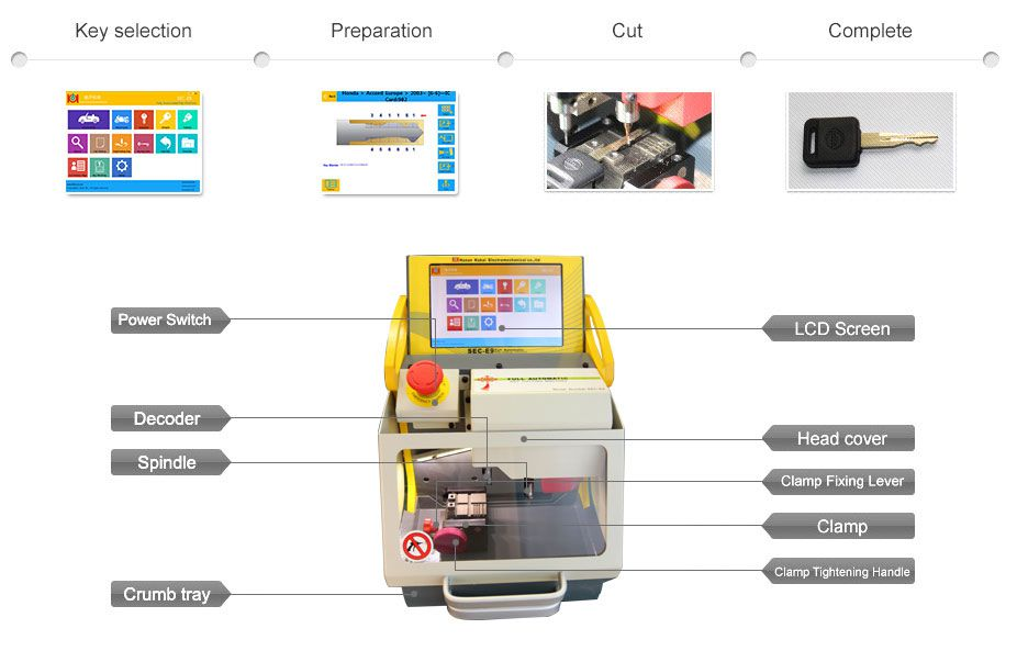 SEC-E9 CNC Key Cutting Machine function