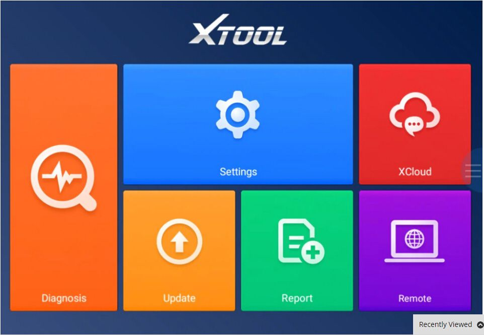 XTOOL A80 H6 Screen Display